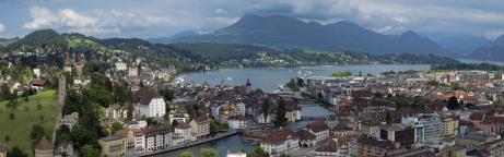 Das Panorama von der Stadt Luzern