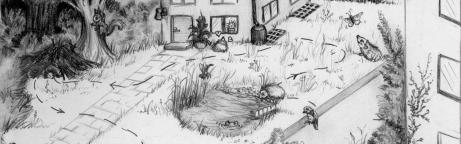 Grafik wildtierfreundlicher Garten