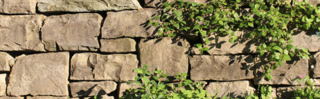 Ansicht einer Trockenmauer