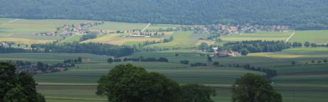 Sicht über Val-de-Ruz