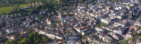 Luftaufnahme der Stadt St.Gallen
