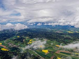 Vue aérienne du bois du Jorat
