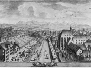 Blick auf den Seilergraben, ca. 1750
